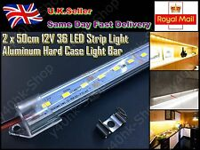 2x 50cm 12V 36LED 5630 SMD Strip Light Aluminum Case Hard Light Strip /tube Bar