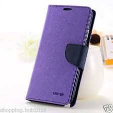 Universal wallet style flip back cover case for all Lava 5 inch models phone