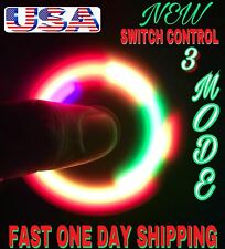 SWITCH CONTROL LED SPINNER FIDGET 3 MODES ,AUTO FLASHING  COLORS, CHRISTMAS GIFT