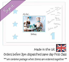 My First Birthday Signing Photo Frame 7x5 Photos in a Word 700DW 1st with stars