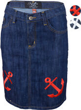 Küstenluder FRONI ANCHORS Anker JEANS Rock / Skirt Rockabilly