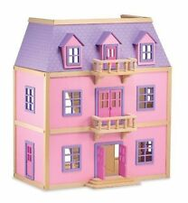 Melissa & Doug Multi-Level Wooden Dollhouse With 19 pcs Furniture - 4570