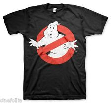 T-shirt Ghostbusters Distressed Logo vintage maglia Uomo Ufficiale