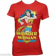 T-shirt Wonder Woman superhero maglia donna rossa ufficiale by Hybris