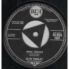 "ELVIS PRESLEY King Creole 7"" VINYL UK Rca 1958 Black/Silver Tri Centre Label"