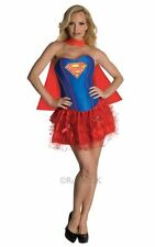NEW! Adult Sexy Superhero Supergirl Ladies Fancy Dress Hen Party Costume Outfti
