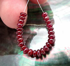RARE NATURAL DEEP GEM RED AAA++ AFRICAN RUBY BEADS 2.10 inches 7.15cts