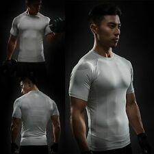 Compression Men's Crossfit Gym Sport Short Sleeve T-Shirt Workout Cycling Sweats