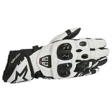 Alpinestars GP Pro R2 Black / White Moto Motorcycle Leather Gloves | All Sizes