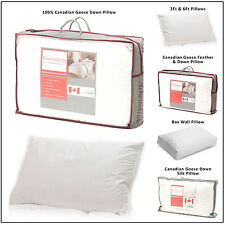 Kensingtons Pure Canadian White Snow Goose Down Goose Feather Pillow 100% Cotton