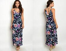 WOMENS LADIES FLORAL LONG MAXI BOHO BEACH HOLIDAY PARTY DRESS SIZE 10 12 14 16