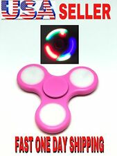LOT OF PINK BEST LED Spinner Fidget,AUTO FLASHING,LIGHTING COLORS,WHOLESALE