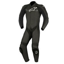 Alpinestars Challenger V2 Black Motorcycle One Piece Leather Suit | All Sizes