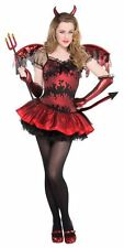 SALE! Teen Red Devil Girls Halloween Party Fancy Dress Childs Costume Outfit