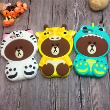 SOFT RUBBER SILICONE CASE COVER SKIN 3D Bear For Apple iPhone 5 6S 7 PLUS
