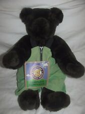 Vermont Teddy Bear Brown Jointed Plush Stuffed Animal Wearing Outfit 15