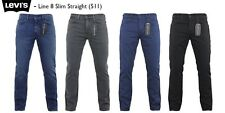 LEVI'S JEANS - LEVI'S 511 SLIM FIT DENIM JEANS - NEW LINE 8   - VARIOUS COLOURS