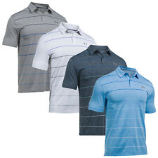 UNDER ARMOUR MENS COOLSWITCH PIVOT STRIPE POLO SHIRT NEW HEATGEAR T-SHIRT TEE