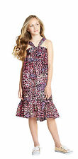 GIRLS PURE COTTON PINK ANIMAL PRINT SUMMER DRESS IN AGES 9 TO 12 YEARS BNWT