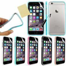 NEW SILICONE TPU BUMPER CASE COVER FOR With Free Screen Protector + Stylus