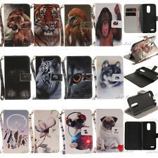 PU Leather Strap Case for LG K8/K10 2017 Phones Stand Wallet Magnetic Flip Cover