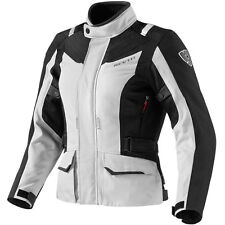 REV'IT! VOLTIAC SILVER BLACK DONNE WP MOTO TESSUTO GIACCA REV IT REVIT