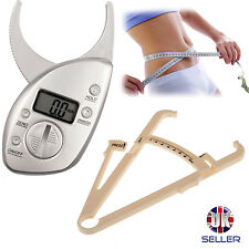 Mechanical, Digital Body Fat Tester Calipers Weight Loss Slimming Diet Fitness