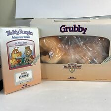 1985 Grubby Teddy Ruxbin with Manual, Cord, Book & Tape Never Been Used In Box