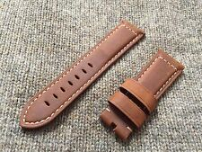 Genuine Officine Panerai Leather strap band 24mm Brown