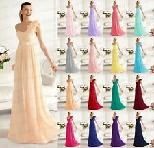 A shoulder Chiffon Formal Evening Ball Gown Party Prom Bridesmaid Dress SZ 6-24+