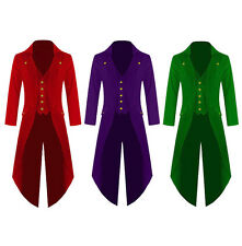 Mens Steampunk Gothic Tailcoat Multi Color Gothic Jacket Victorian Style Coat