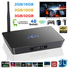 4K X92 Android 6.0 S912 Octa-Core 2Go/3Go+16Go/32Go Smart TV Box Dual WiFi BT4.0