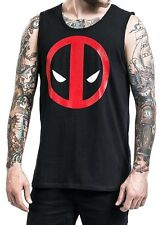 Canottiera Deadpool stylized face tank top Uomo ufficiale Marvel