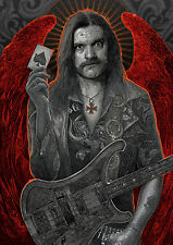 "Tribute To Ian ""Lemmy"" Kilmister Illustration A3 Poster Open Edition Art Print"