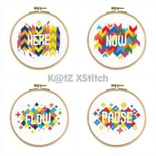 DMC - MINDFUL MOMENTS CROSS STITCH KIT, Inc Hoop (Choose From Four)
