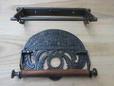 Cast Iron kitchen roll holder Vintage old Rustic industrial retro ornate metal