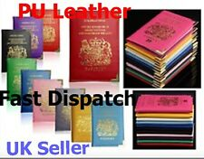 New UK Passport Holder Protector Cover Wallet PU Leather United Kingdom EU UK