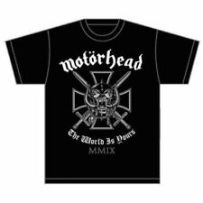 Motorhead' IRON CROSS (The World Is Yours )' T-SHIRT - NUOVO E ORIGINALE