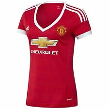 ADIDAS MUJER Manchester United Top Fútbol Jersey MUFC mujer chica 15/16 NUEVO