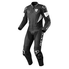 REV'IT! Akira Une Pièce Cuir Moto TENUE DE COURSE NOIR BLANC REV IT revit