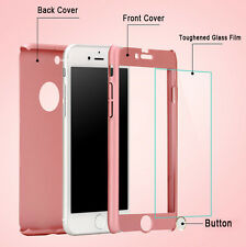 For Apple iPhone 7 7 Plus Case Ultra Thin Slim Hard Cover+ Tempered Glass