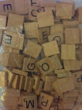 WOODEN SCRABBLE LETTERS TILES LETTERS & NUMBERS 0-9 PICK AND MIX  1 - 100  &  /