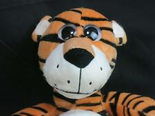 BIG EYES POTBELLY STRIPED TIGER TOY FACTORY PLUSH STUFFED ANIMAL SITTING DOWN