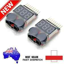 2PCS RC Lipo Battery Low Voltage Alarm 1S-8S Buzzer Indicator Checker Tester DV