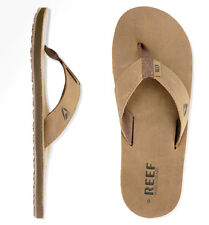 Reef Leather Smoothy Sandalen Badeschuhe braun