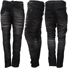 New Men's Motorbike Motorcycle Jeans Biker Denim Trousers with Protective Lining