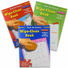 A4 WIPE CLEAN FIRST LEARNING SCHOOL EDUCATIONAL BOOKS WRITING SHAPES COLOURS 267