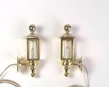1:12 scale miniature dollhouse coach lamps by Clare-Bell Brassworks