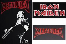 METALLICA IRON MAIDEN thrash speed metal James Hetfield  big back patches