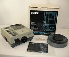 Vivitar 3000AF Slide Projector Auto Focus Remote Rotary Tray Manual Tweezer Box